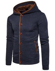 988a18d549 STTLZMC Homme Hiver Chaud Polaires Doublé Sweats à Capuche Cotton Manteaux  Doux Blousons Sweat-Shirts Outwear Tops