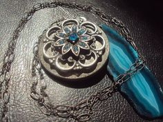 Waterlily  Luxurious Vintage Inspired Locket by amandalynneLUXE, $59.99