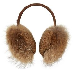 Bogner Fur Ear Muffs ($255) ❤ liked on Polyvore featuring accessories, fur earmuffs and bogner