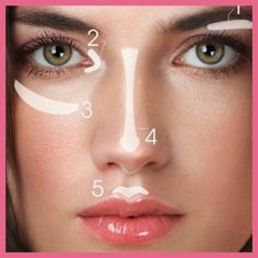 Apply highlighting make up in these areas for a finished look. Jane Iredale.