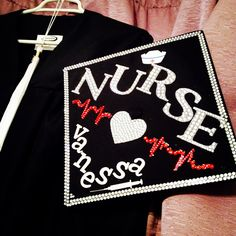 Nurse graduation cap. DIY graduation nursing school nurse nursing