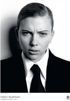 scarlett johansson in drag as Russell James. Beauty Photography, Celebrity Photography, White Photography, Fashion Photography, Scarlett Johansson, Drag King, Toni Garrn, Trans Model, Russell James
