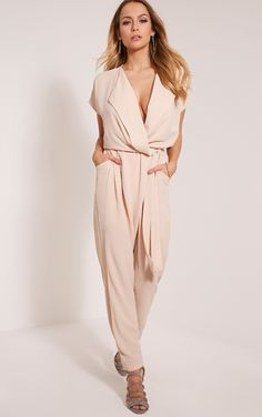 6a5946c10d0a Cameo Rose Stone Wrap D-Ring Belted Jumpsuit