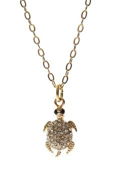 Crystal Turtle Necklace - on for $22, regularly $88! cute!
