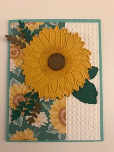 Stamping Up Cards, Sunflowers, Stampin Up, Daisy, Bee, Honey, Brown, Crafts, Honey Bees