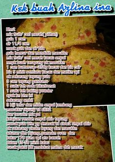 Resepi Butter Cake, Biscoff, Marble Cake, Cake Recipes, Cheesecake, Cooking Recipes, Cakes, Fruit, Desserts