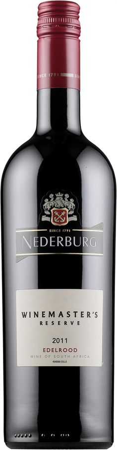 Nederburg Winemaster's Reserve Edelrood 2012. Christmas Eve 2013