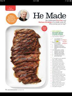 Guy fieri's Bloody Mary steak
