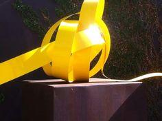 2k Yellow Knott. Mark L Swart. #marklswartsculpture Table Lamp, Yellow, Artist, Design, Home Decor, Table Lamps, Decoration Home, Room Decor, Artists