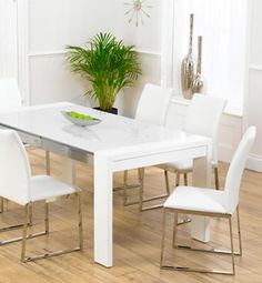 high gloss white dining table wwwworldstorescoukp - White Gloss Kitchen Table