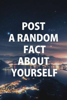 So many random facts I don't know which to go with! Maybe the most unusual is that I have a super strong phobia to crabs! Funny Conversation Starters, Conversation Quotes, Facebook Status, For Facebook, Funny Statuses, Funny Memes, Jokes, Best Wedding Websites, Interactive Facebook Posts