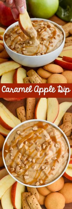 This Caramel Apple Dip Recipe is the perfect easy appetizer for a party! It is o… This Caramel Apple Dip Recipe is the perfect easy appetizer for a party! It is only four ingredients and comes together in under 10 minutes. This caramel apple dip with crea Fingerfood Recipes, Fingerfood Party, Appetizer Recipes, Easy Appetizer Dips, Tea Sandwiches, Apple Recipes, Fall Recipes, Fruit Recipes, Easy Dip Recipes
