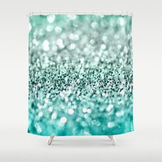 Glitter shower curtain.