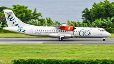 Wings Air (ID) ATR 72-600(72-212A) PK-WHS aircraft, painted in ''60th ATR'' special colors Feb. 2016, rolling at Indonesia, Sultan Babullah Airport (also known as Ternate Airport). 23/07/2017.