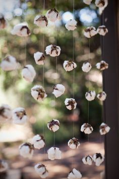 rustic raw cotton wedding decor