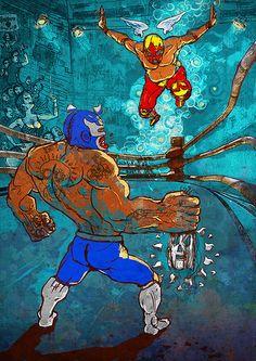 Masks - The Lucha Libre by Matt Ratcliffe Illustration, via Flickr