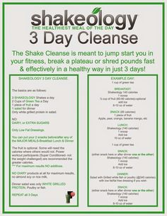 21 day fix meal plan, 3 day shakeology cleanse,