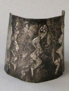 Peru | Silver cuff from Ica in the south | 19th century