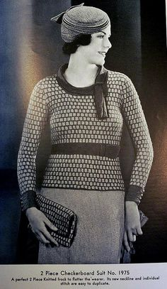 1930s sweater pattern.