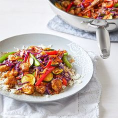 General Tso Chicken Stir-Fry - The Pampered Chef® Whole Food Recipes, Dinner Recipes, Healthy Recipes, Fun Recipes, Brunch Recipes, Recipe Ideas, Chicken Stir Fry, Tso Chicken, Chicken