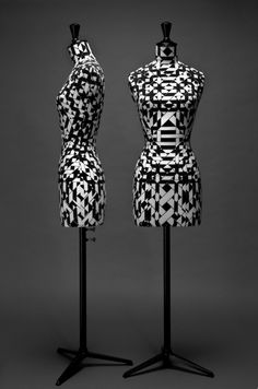 """One of the most famous and historical brands for these dress forms is Stockman, and a lot of fashion lovers collect them and use them as decoration in their homes. Taking the fashion dress form as a piece of art, French art director Emmanuel Bossuet of EEM Agency collaborated with Stockman to produce limited edition """"haute couture"""" busts. Limited to 10 copies of each model, the original 3 are currently on exhibit at the department store Bon Marche in Paris."""