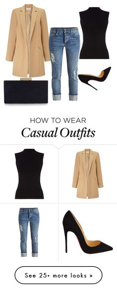 """casual"" by mandii-macias on Polyvore featuring Miss Selfridge, Oasis, Christian Louboutin, Monsoon, women's clothing, women, female, woman, misses and juniors"