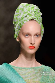 Missoni Spring 2015 - Light Green Hair Turban