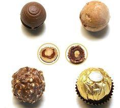Ferrero Rocher, ricetta perfetta facilissima Ferrero Rocher, Rocher Chocolate, Chocolate Truffles, Valentine Desserts, Mini Desserts, Low Carb Desserts, Homemade Chocolate Bars, Chocolate Recipes, My Recipes