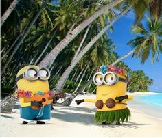 minions beach image | Found on giveawayarena.com