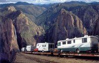 El Paso, Texas-based Tracks to Adventure no longer offers its railroad tours into Mexico's Copper Canyon after the Mexican government decided to prohibit the practice of allowing RVers to stay in their motorhomes or trailers that rode atop flat cars while traveling through the picturesque canyon in the northern state of Chihuahua. Tracks still offers the Copper Canyon tour but now RVs are parked and visitors take the 172-mile-long canyon rail in passenger cars.