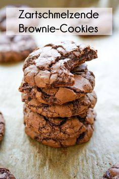 Chocolate brownie cookies for cloudy November days - Jenny is baking Brownie Recipes, Cookie Recipes, Holiday Baking Championship, Brownies, German Baking, Chocolate Brownie Cookies, Food Cakes, Desert Recipes, Four