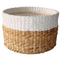 White & Natural Woven Basket - Large - Threshold™