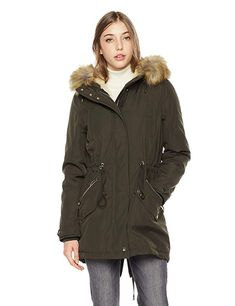 EX BRAND Ladies Womens Quilted Padded Puffer Bubble Fur Hood Hooded Warm Thick Jacket Coat