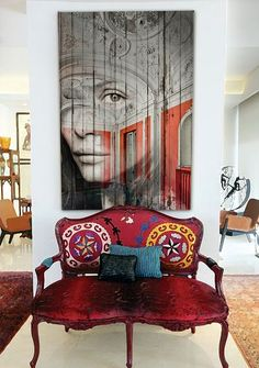 Interesting composition; the overlay of a face on an architectural pic adds a different dimension