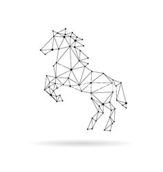 Geometric horse design silhouette vector by Roman84 - Image ...