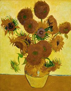 Vincent van Gogh: Sunflowers (1888).