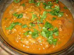 I actually got the idea of this recipe from Srivalli from Cooking 4 All Seasons. I did make few, very few changes from her original rec. Lamb Curry, Spicy, Cooking Recipes, Seasons, Goat, Ethnic Recipes, Chef Recipes, Seasons Of The Year, Goats