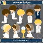 First Communion Religious Clipart 2