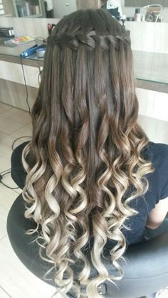 Ultimate Guide: Beautiful Braided Wedding Hairstyle Ideas Aside from your wedding outfit and jewellery, your hairstyle plays a critical role in your attire and general look. Every hair type will make a distin…Five star waterfall hair with blonde ha Quince Hairstyles, Pretty Hairstyles, Braided Hairstyles, Wedding Hairstyles, Hairstyle Ideas, Hairstyle Short, Layered Hairstyles, Work Hairstyles, Modern Hairstyles