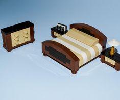 LEGO Furniture: Master  Bedroom Collection - HUGE! - Bed, Nightstands, Dresser