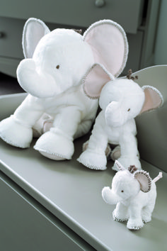 White family of Ferdinand the Elephant softtoys