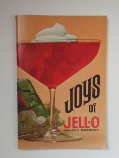Joys Of JELL-O Booklet  Cookbook by YourInvisibleHands on Etsy