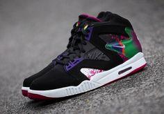 #Nike Air Tech Challenge Hybrid - Black/Rave Pink/Varsity Purple #sneakers