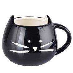 For the cat lovers out there, an adorable kitty teacup – Artpot High quality Cute Little Black Cat Tea ,Coffee ,Milk ,Ceramic Mug Cup ,350ml