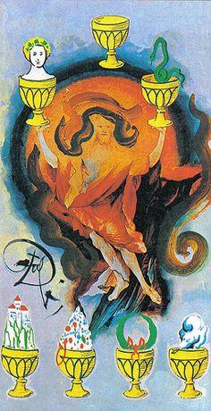 Seven of Cups - Dali Universal Tarot by Rachel Pollack , Juan Llarch, Salvador Dali