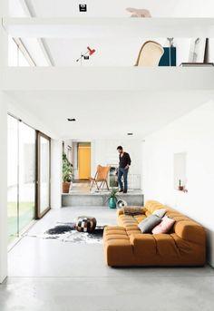 #vide #splitlevel en niveauverschillen + beton vloer