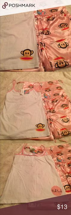 💖NWT. Super Cute Paul Frank pajama set. Super cute pink and white  Paul Frank pajama set💗. From PAC Sun .NWT Paul Frank Intimates & Sleepwear Pajamas