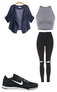 Untitled #42 by gracie-jernigan on Polyvore featuring polyvore, fashion, style, Topshop and NIKE