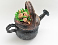 Prin gradina - Borcanel decorat stropitoare Watering Can, Canning, Handmade, Decor, Hand Made, Decorating, Decoration, Dekorasyon, Deco