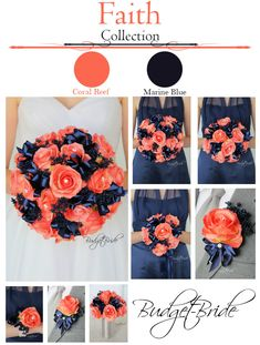 Marine Blue and Coral Reef Davids Bridal Wedding Bouquet, Turquoise Coral Weddings, Coral Wedding Themes, Peach Wedding Colors, Wedding Ideas, Wedding Blog, Rustic Wedding, Wedding Planning, Wedding Bridesmaids, Wedding Bouquets